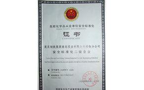 危化品安全标准化证书
